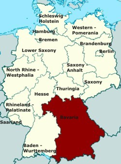Location map, Lower Saxony Germany